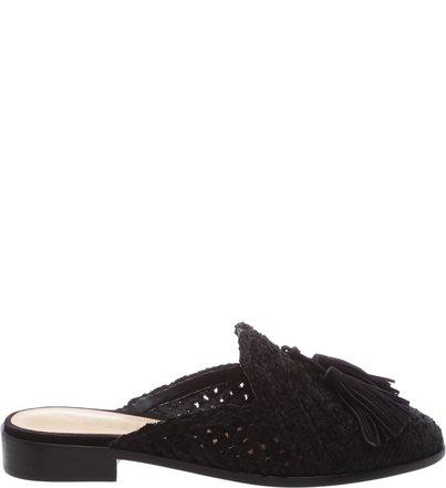 Flat Mule Crochê Black Pre-Fall | Schutz