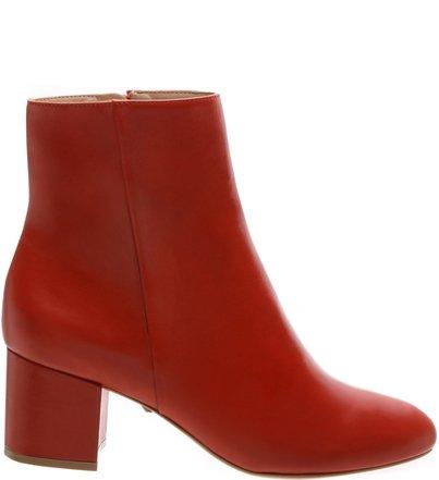 Bota Block Heel Medium Vermelha | Schutz