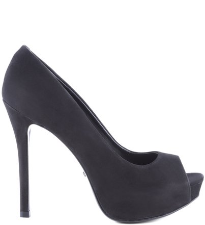 PEEP TOE GLAM BLACK