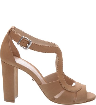 Sandália Salto Grosso Curves Brown | Schutz