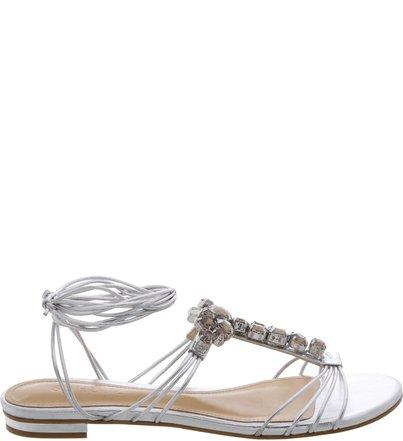 Flat Cristals Sandal Prata   Schutz