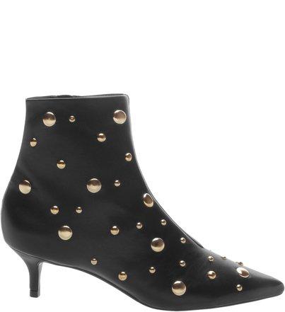 Bota Kitten Heel Metallic Pearl Black | Schutz