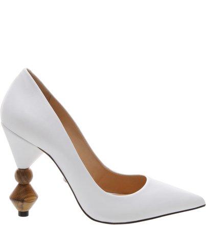 Scarpin Statement Heel  White | Schutz
