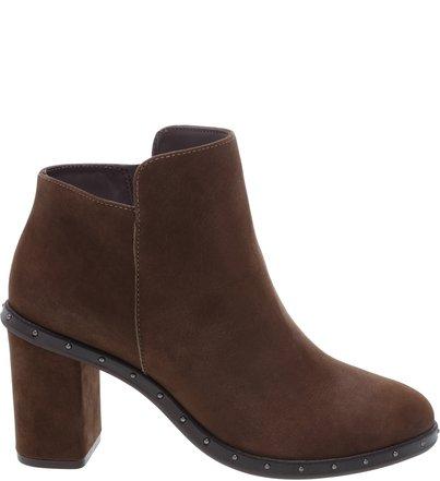 Ankle Boots Studs Nobuck Grey | Schutz