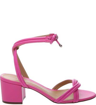 Sandália Block Heel Strings Neon Pink | Schutz