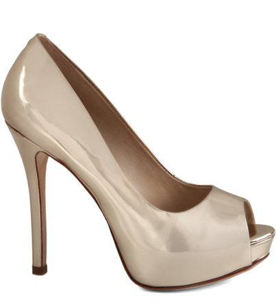 PEEP TOE GLAM VERNIZ GOLD