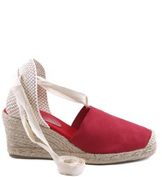 ESPADRILLE LACE UP RED| BF