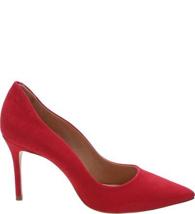Scarpin Curves Nobuck Red | Schutz