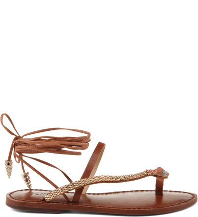 SANDÁLIA RASTEIRA LACE UP SNAKE GINGER