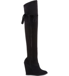 OVER THE KNEE BOOT ANABELA BLACK
