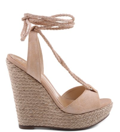 PLATAFORMA LACE UP NUDE