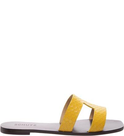 Flat Slide Croco Yellow | Schutz
