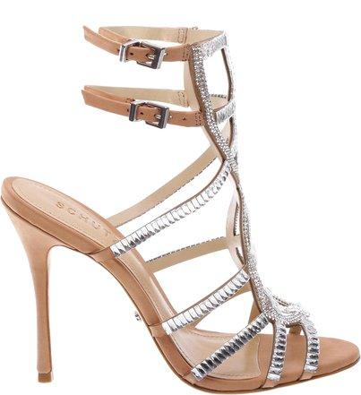 Sandália Ankle Strip Glam Toasted Nut   Schutz