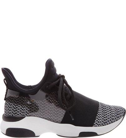 Pré-Venda Sneaker Stretch Curves Black & Grey | Schutz