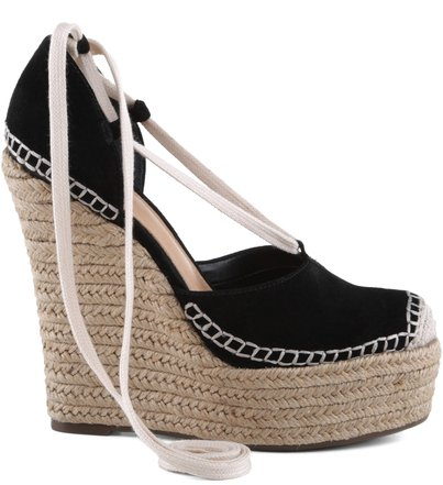 ESPADRILLE HIGH HEEL BLACK