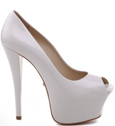 PEEP TOE HIGH VERNIZ PEARL