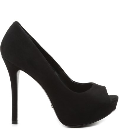 PEEP TOE BASIC LOVE BLACK