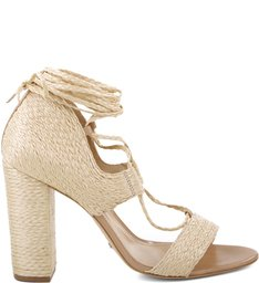 SANDÁLIA LACE UP STRAW NATURAL - US SPRING COLLECTION