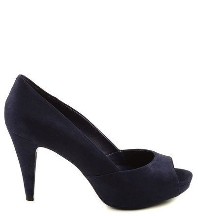 PEEP TOE DARK BLUE