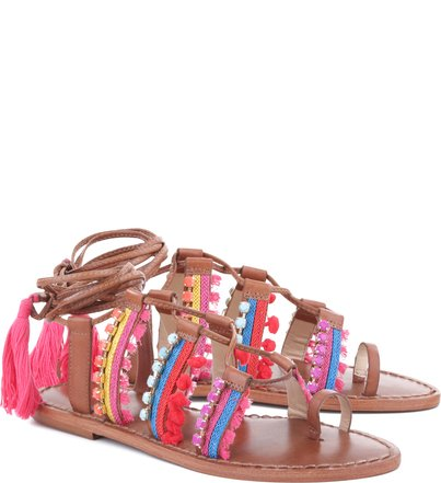 FLAT FLUORESCENT GIPSY LACE UP