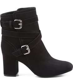 BOTA BLOCK HEEL THIN BELT BLACK