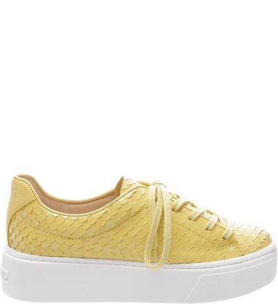 Tênis Low Snake Yellow   Schutz