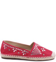 FLAT ESPADRILLE ETHNIC HOT PINK
