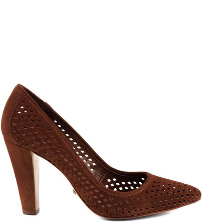 SCARPIN LASER CUT BROWN