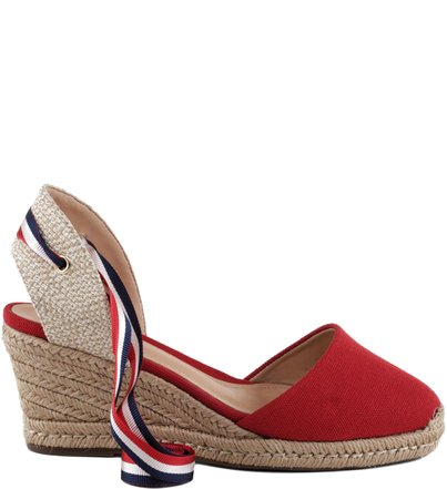 ESPADRILLE STRIPED RED