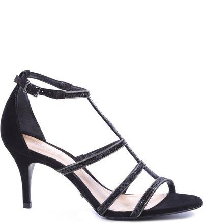 Sandália Tiras Metalizada Black   Schutz