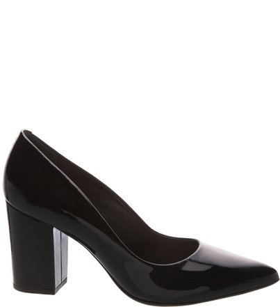 Scarpin Verniz Block Heel Black | Schutz