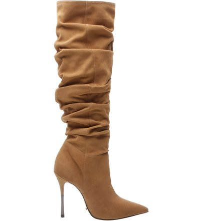 Anna Bota Over The Knee Suede Brown | Schutz