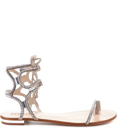 FLAT LACE UP MINI PEDRARIAS OYSTER