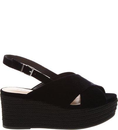 Flatform Velvet Black | Schutz