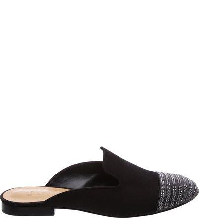 Flat Mule Metalic Black | Schutz