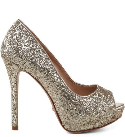 PEEP TOE PARTY METALLIC
