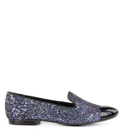 SLIPPER GLITTER CAP TOE