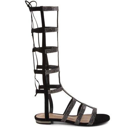 Sandália Gladiadora Crystal Black | Schutz