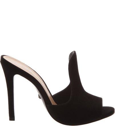 Mule Open Toe Curve Black | Schutz