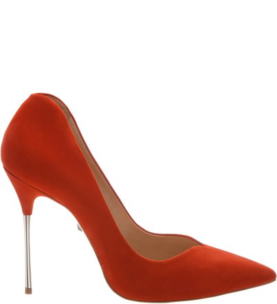 Scarpin Statement Heel Red Orange | Schutz
