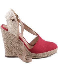 ESPADRILLE ANABELA RED| BF