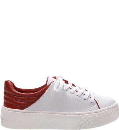 Classic Sneaker Flatform Branco E Vermelho | Schutz