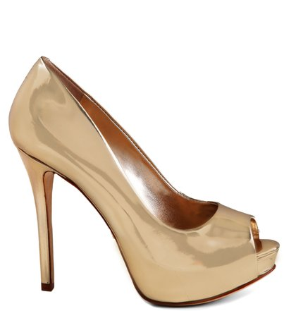 PEEP TOE GLAM GOLD