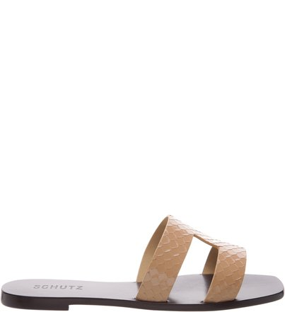 Flat Slide Croco Neutral | Schutz