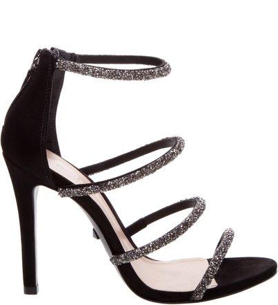 Sandália Salto Fancy Straps Black   Schutz