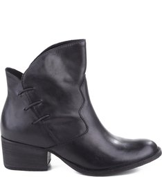 COWBOY LEATHER BOOTS BLACK