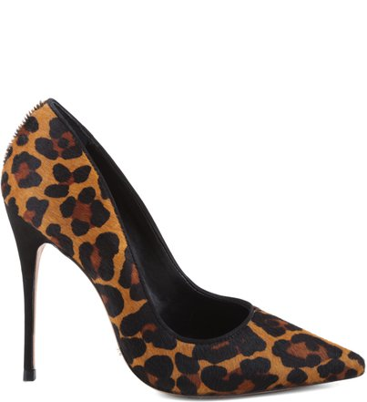 SCARPIN STILETTO BLACK CONHAQUE