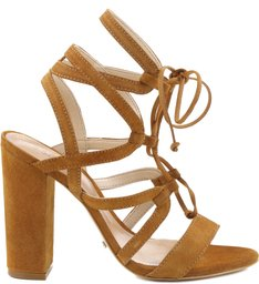 SANDÁLIA TIED UP MULTI STRAPS BRANDY