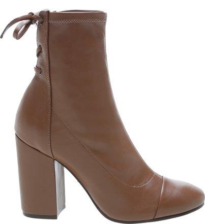 Bota Block Heel Amarração Brown | Schutz