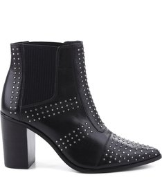 BOTA POINTED TOE BLACK STUDS